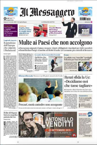 drowned-migrant-boy-il-messaggero-front-page