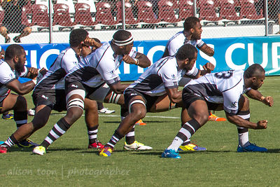 Pregame ritual war dance, Fiji v. Samoa, World Rugby Pacific Nations Cup