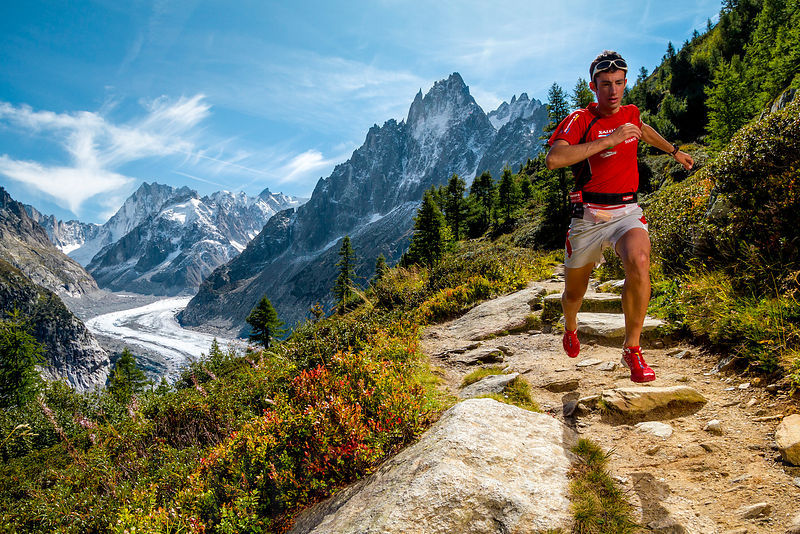 Kilian training above Montenvers