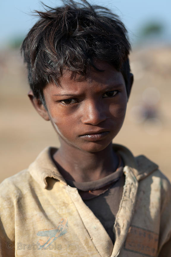 Boy in the desert near Pushkar, Rajasthan, India