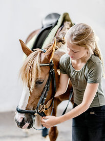 Danish girl with horse