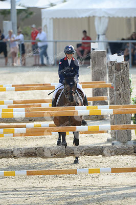 CONDE FERREIRA Camille, (FRA), PIROLE DE LA CHATRE during  competition at European Jumping Championship for Children, Juniors...