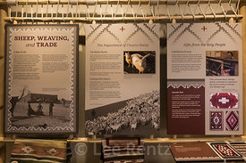 Exhibit about Navajo Weaving and Trade in the  Visitor Center at Hubbell Trading Post