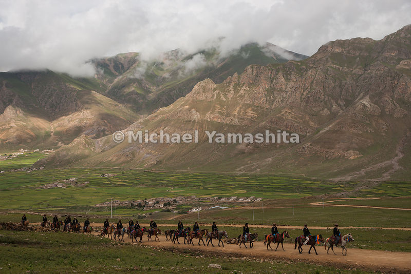 With trucks and motorcycles taking over the jobs of herding and transport, Tibetan cowboys like these in Chiusang, an hour la...