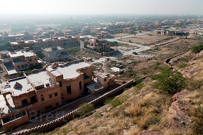 Enormous houses being built for friends and relatives of the royal family near Umaid Palace, Jodhpur, Rajasthan, India