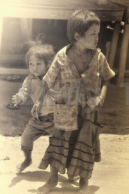 """Young Children at Tonle Sap - 4"""