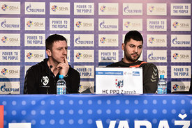 Andrija NIKOLIĆ, Tin KONTREC of PPD Zagreb during the Final Tournament - Final Four - SEHA - Gazprom league, Finals press con...