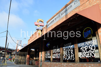 Twisted Root Hamburger shop in Deep Ellum, TX
