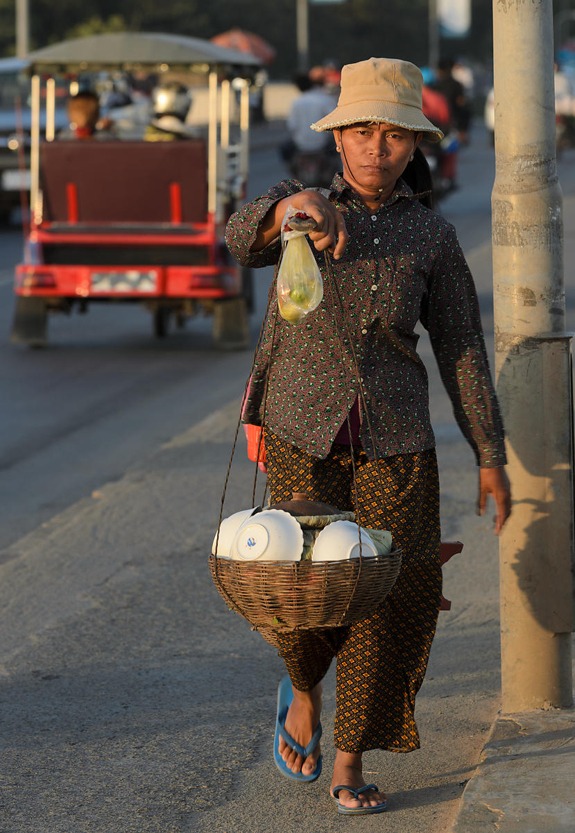 Khmer food seller