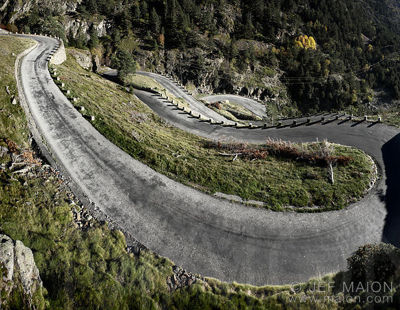 Mountain roads in South France