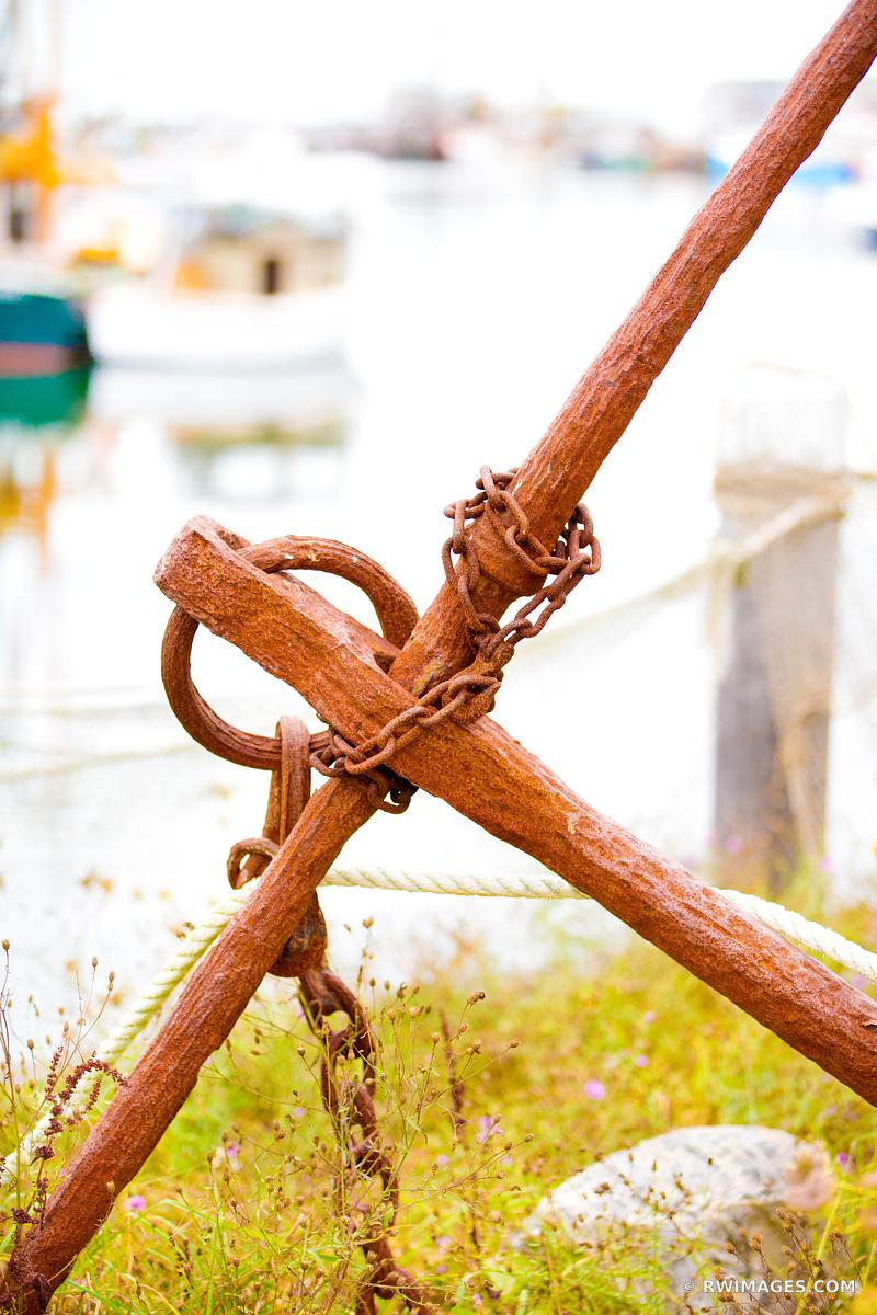 OLD RUSTY ANCHOR MENEMSHA FISHING VILLAGE CHILMARK MARTHA'S VINEYARD COLOR