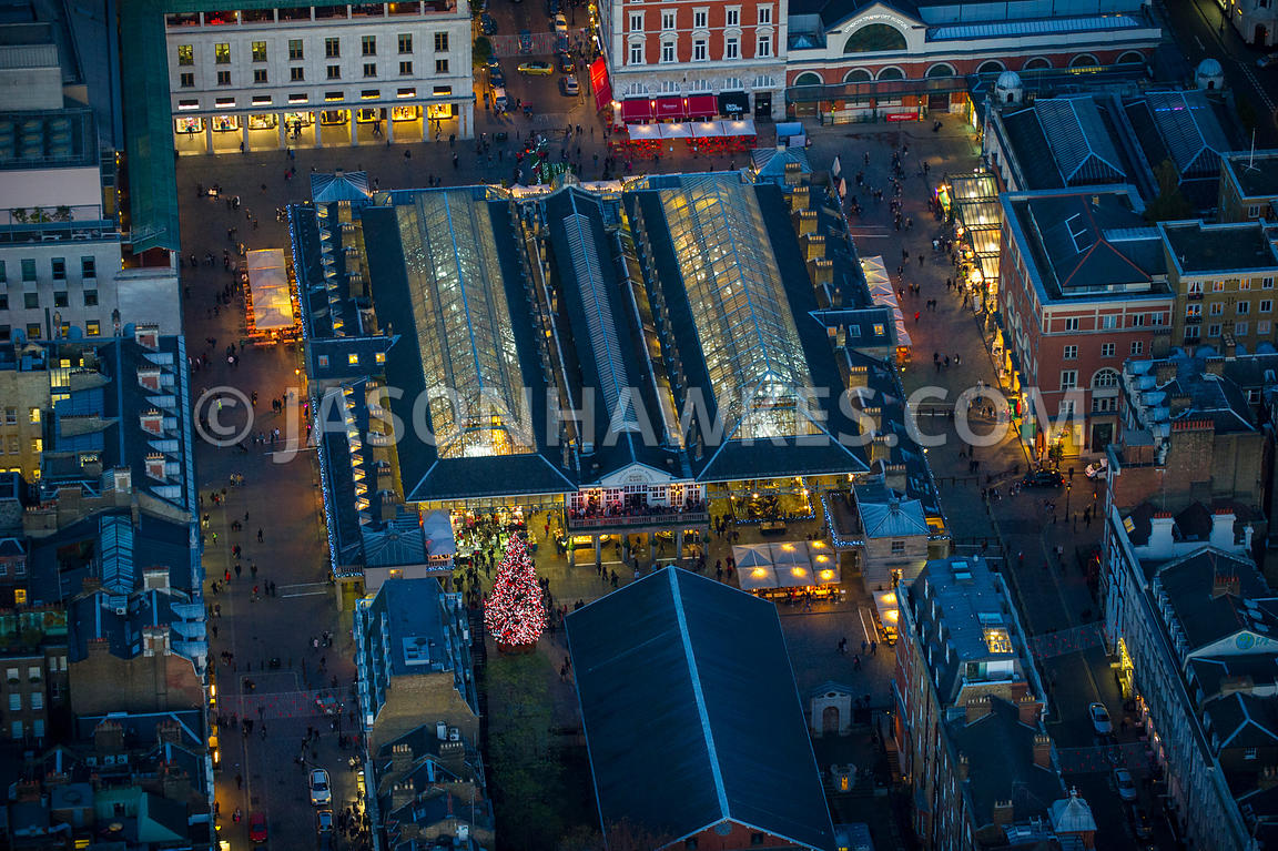 Aerial view of Covent Garden Market, London