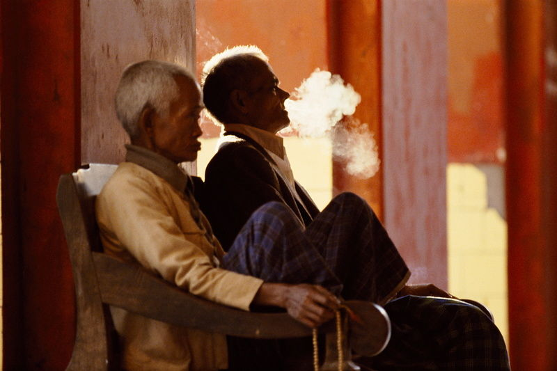 Men smoking