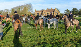 At the meet. The Belvoir Hunt meet at Waltham House 22/12