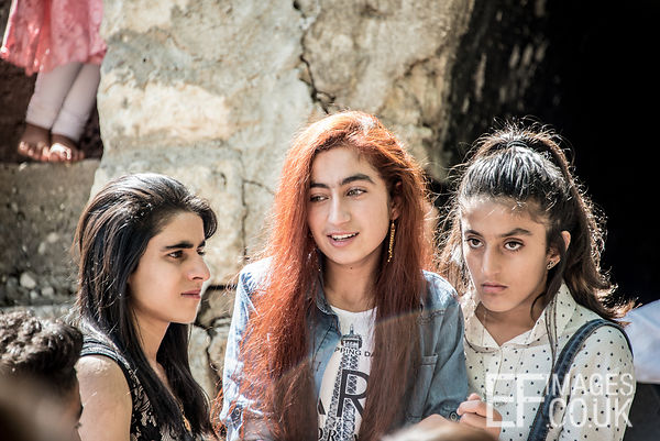 Yezidi Girls At Red Wednesday, Or Yezidi New Year, Celebrations In Lalish, Iraq. 19th April 2017