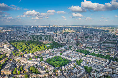 Aerial view of Belgravia, London.