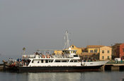 Ferry at the jetty of Gorée Island, Senegal