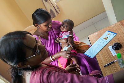 Mothers and babies recieve medical care, counseling, and supplemental meals at the Swastha Kendra clinic operated by the NGO Calcutta Kids (calcuttakids.org) in the Fakir Bagan area of Howrah, India