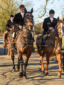 Tim Brown and Frazer Houston leaving the meet in Owston