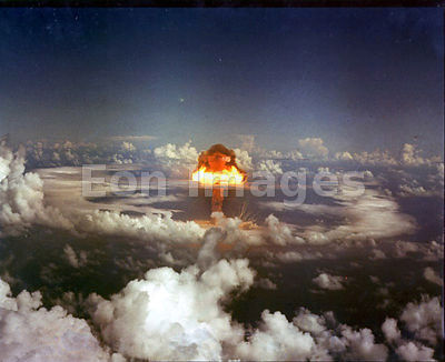 Blast of fission-based nuclear weapon test on November 15, 1952