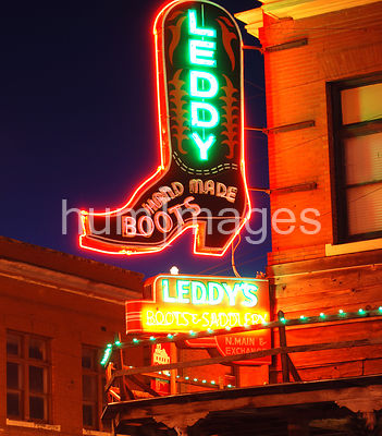 Leddy Boots sign in Ft. Worth Stockyards, Texas