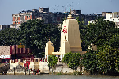 Unidentified temple along the Hooghly River, Kolkata, India.