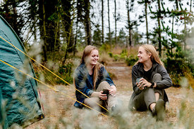 Two girls camping in Denmark 11