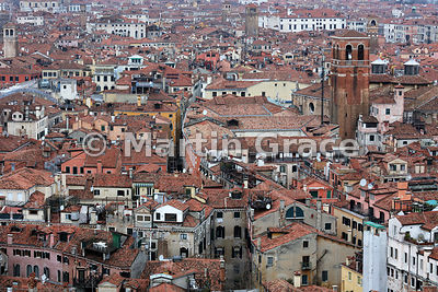 Venice from the Campanile, looking north, Italy
