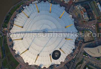 Aerial view of the O2, London