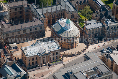 Aerial view of Sheldonian Theatre, Oxford.