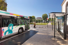 Photo de l arret de bus place Mellinet