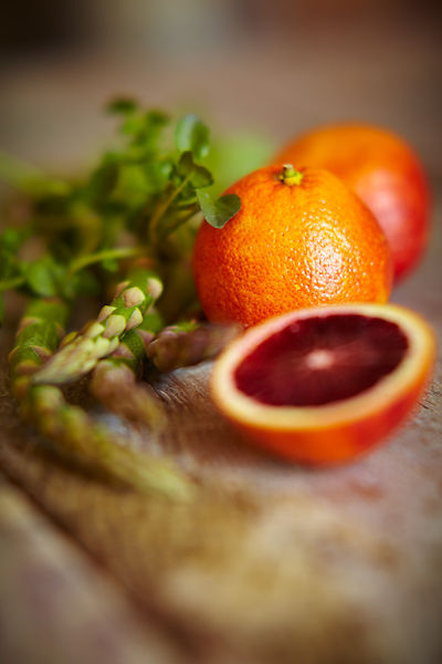 Blood Oranges and Asparagus