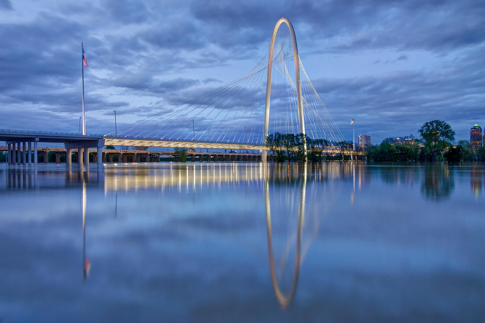 Margaret Hunt Hill Bridge Reflected in the Trinity River
