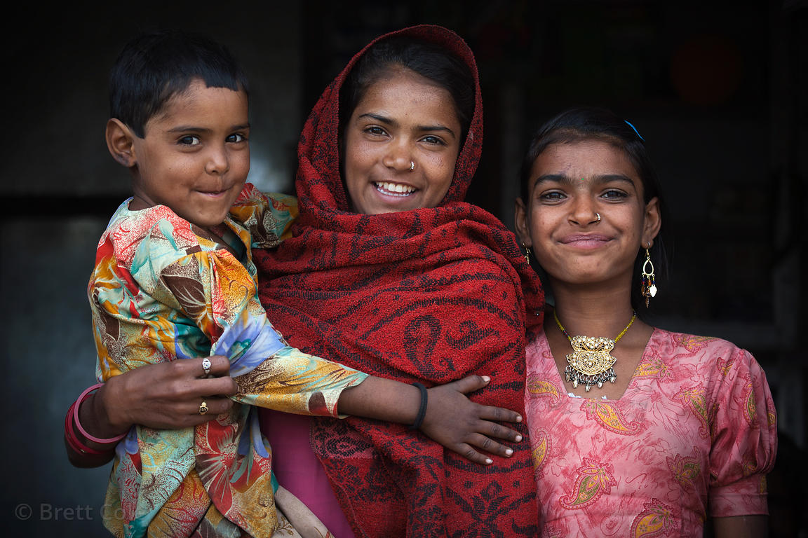Girls from the rural village of Kharekhari, Rajasthan, India
