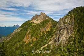 Mt. Forgotten viewed from a saddle along the Perry Creek–Mt. Forgotten Trail in Mt. Baker-Snoqualmie National Forest, Cascade...