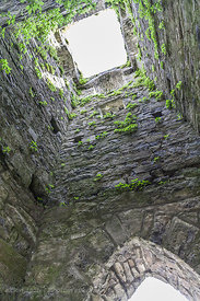 Inside a ruined church tower, Cong, Ireland