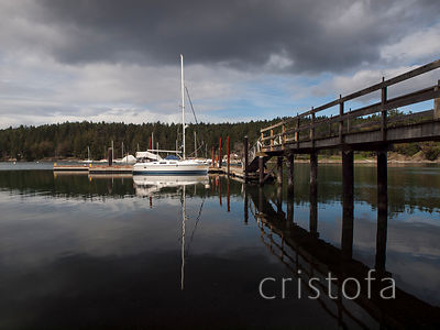 floating dock on Salt Spring Island