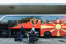 Vardar during the Final Tournament - Final Four - SEHA - Gazprom league, team arrival in Varazdin, Croatia, 30.03.2016, ..Man...