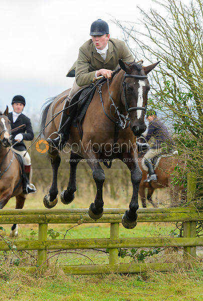 jumping a hunt jump - The Belvoir Hunt at Harby 28/1