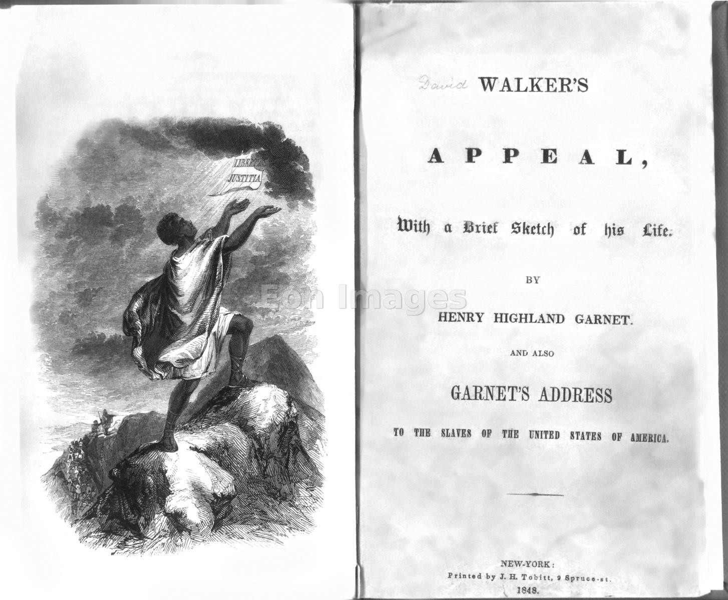 Title page and portrait from manuscript by David Walker