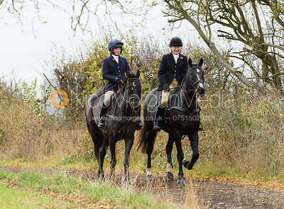 Sophie Walker, Adrienne Collie. The Cottesmore Hunt at Somerby