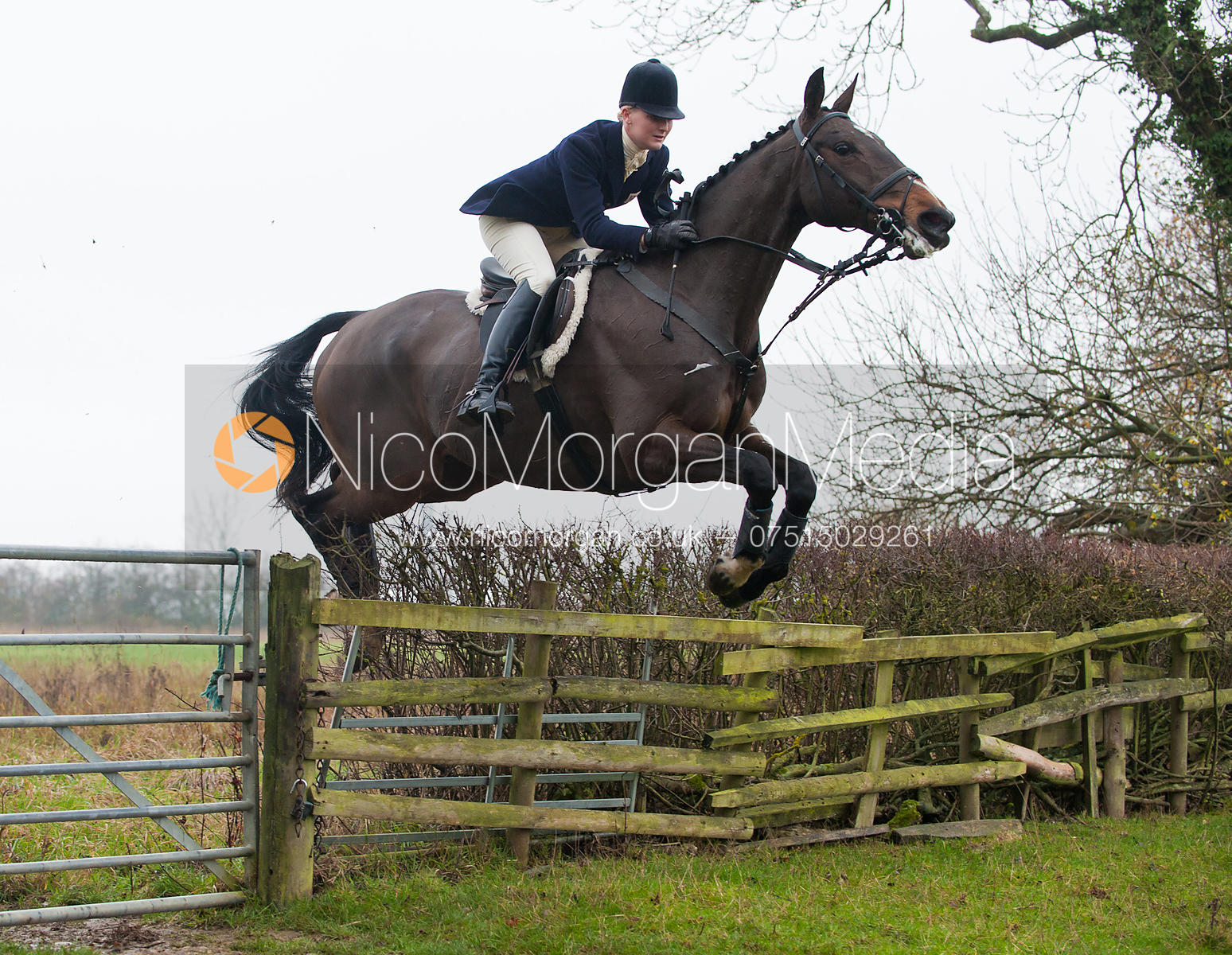 Gaby Cooke - The Cottesmore Hunt at Ranksborough 22/11/11