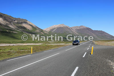 The joy of the open road - driving the spectacular glacial valley down to Borg on Road 94, Austurland (Eastern Region, East I...