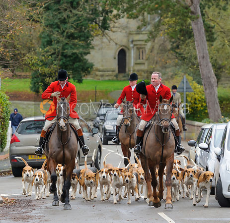 The Belvoir Hunt at Colston Bassett 28/11