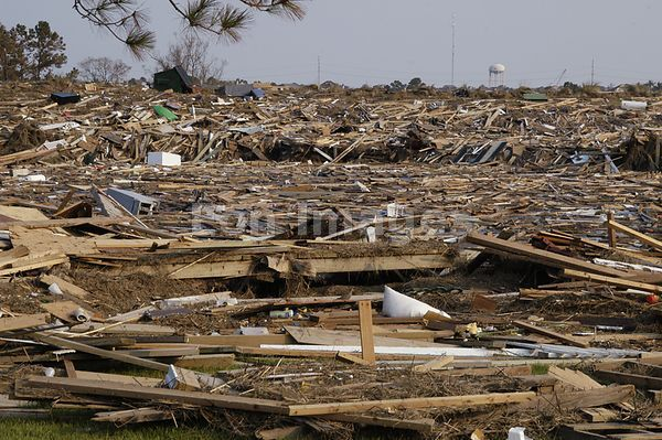 Ruined section of Slidell, Louisiana after Hurricane Katrina