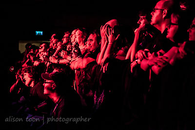 Fans in red light, Sunday of the Marillion UK weekend, 2013, Wolverhampton