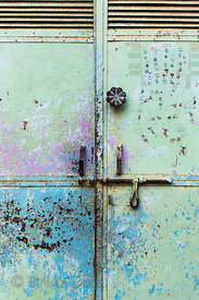 Weathered door in Taragarh, Ajmer, Rajasthan, India