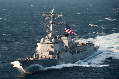 EAST CHINA SEA -- 21 Jun 2012 -- The USS McCampbell (DDG 85) moves into formation during a trilateral exercise in the East Ch...