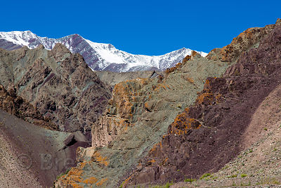 The gorgeous, stark, forboding, and harsh landscape of Hemis High Altitude National Park, at almost 14,000 with extremely int...