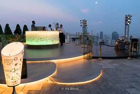 Sky Bar in the State Tower, Bangkok, Thailand.